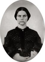 Olive Oatman, tintype, 1857