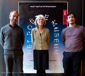 Twan Janssen, Anna Enquist en Johannes Verwoerd van het Poëzie Museum