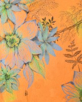 Detail of 'orange flower' mural by Machteld Schouten