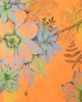 Detail of 'orange flower' mural by Machteld Schouten