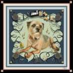 'Bep' personal pet portrait scarf by Machteld Schouten.