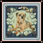 'Bep' personal pet portrait scarf by Machteld Schouten.