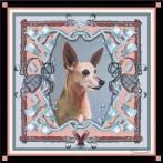 'Gummit' personal pet portrait scarf by Machteld Schouten.
