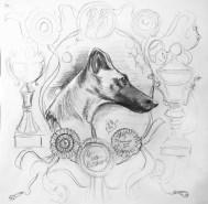Sketch for portrait Bebe