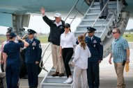 The president and Mrs. Trump arriving in Corpus Christi, Tex., on Tuesday. Credit Doug Mills/The New York Times