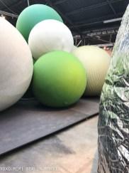 Balls covered in Sunbrella Fabrics