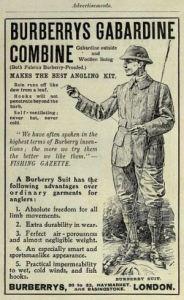 Burberrys gabardine combine ad