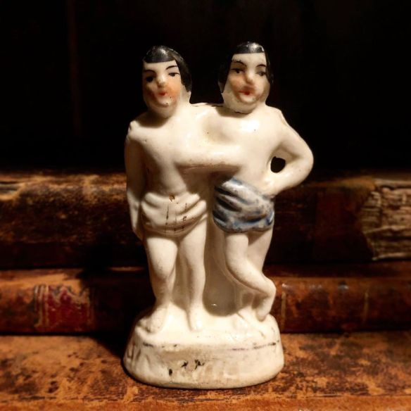 Chang and Eng Bunker Figurine