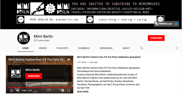 MimiMovies Mimi Berlin's YouTube Channel