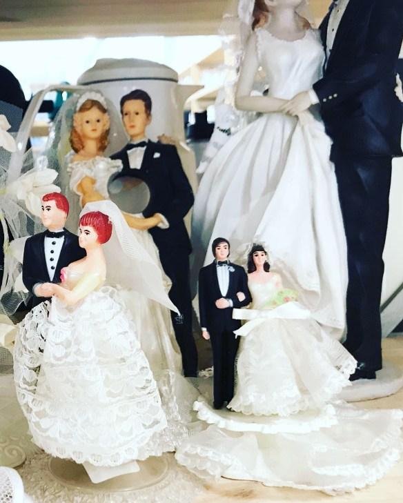 vintage bridal caketoppers