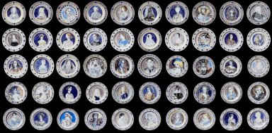 Dinnerplates by Vanessa Bell and Duncan Grant