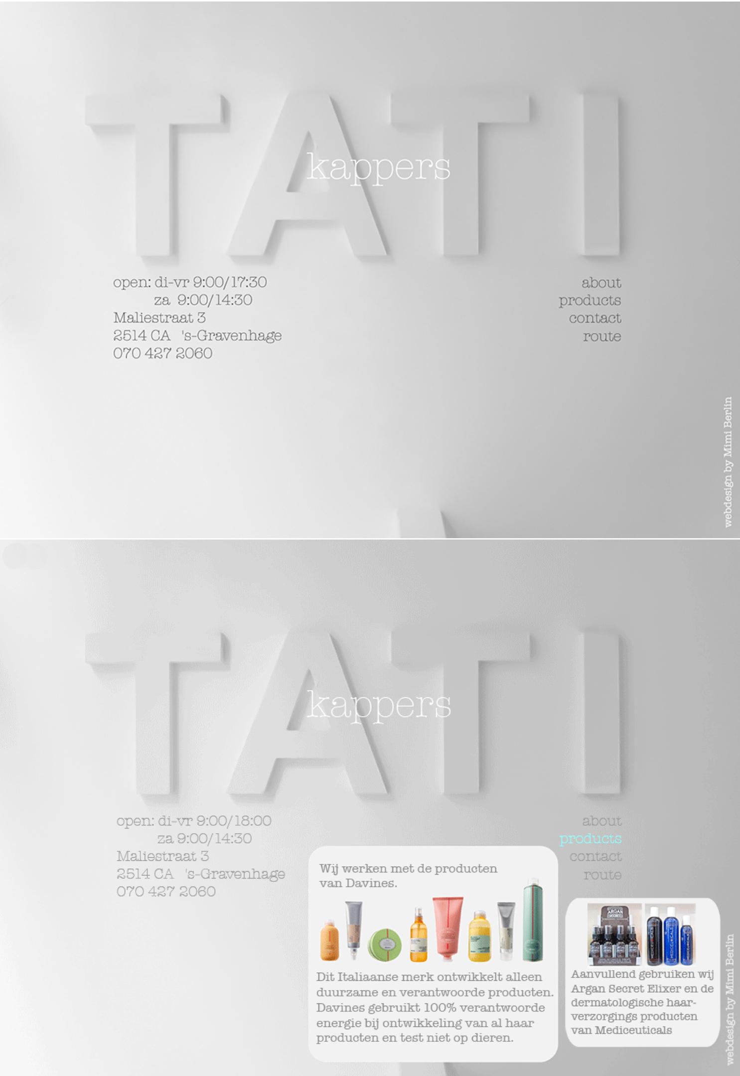Website Design by Appdikted @Mimi Berlin for Tati Kappers