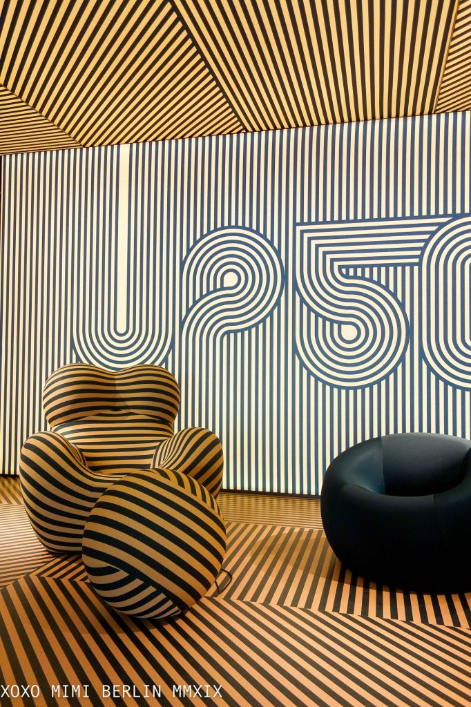 UP50 at B&B Italia showroom in Brera Milan