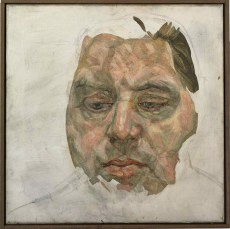 Francis Bacon, Lucian Freud, 1956-57 (oil and charcoal on canvas, 35.5 x 35.5 cm)