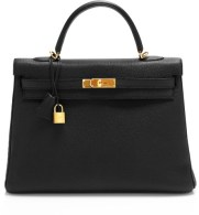 35cm Black Togo Leather Retourne Hermes Kelly at/via Heritage Auctions Special Collections at lyst.com