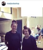 Suzy M & Marijn Obertop, Dutch fashion designer, at Denim City, Amsterdam