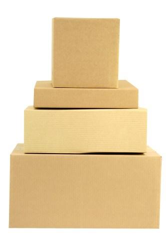 Stacked Boxes Imitating a Festive Cake