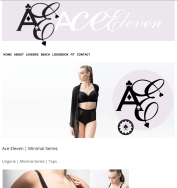 post website and graphic design for Ace Eleven, by Appdikted @ Mimi Berlin (screenshot)