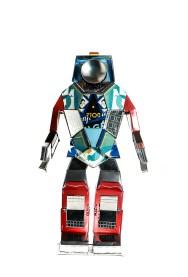 one of Hervé Stadelmann's Robotyp sculptures