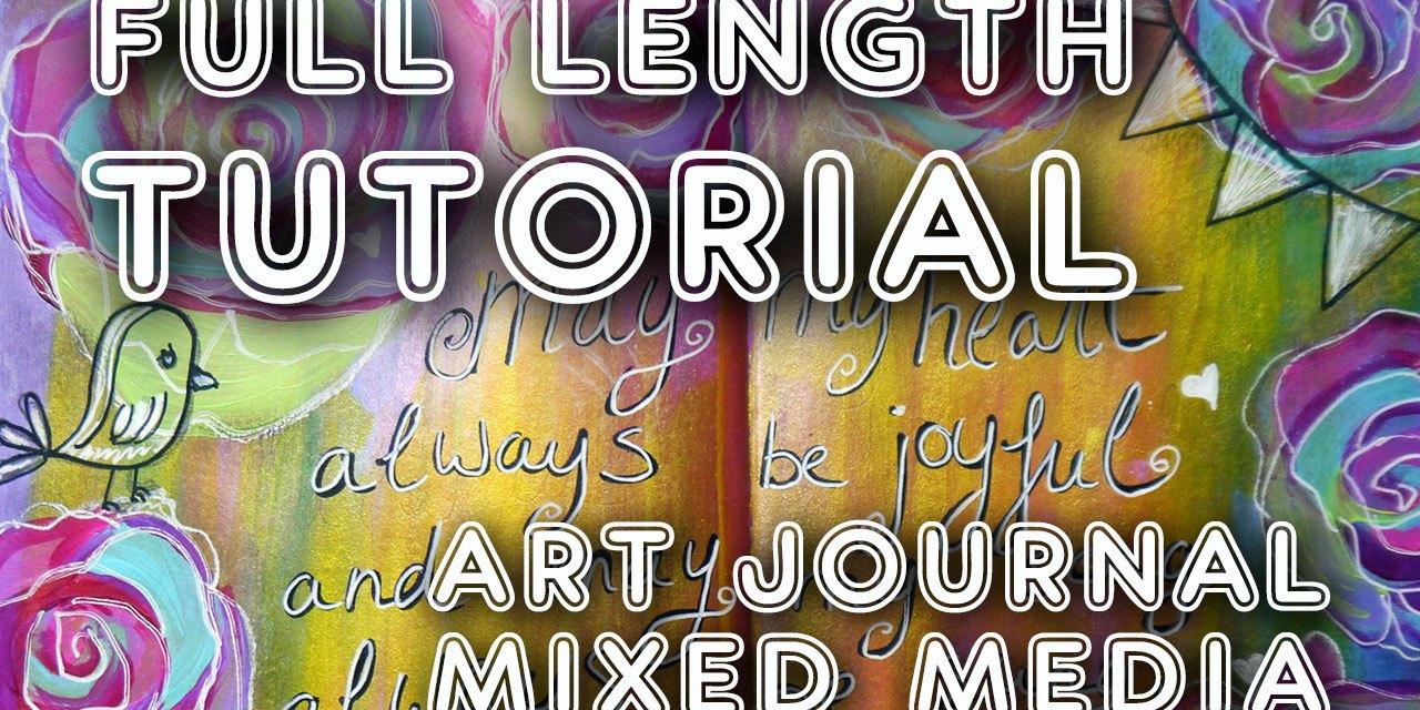 "Studio Time 7 – ""Happy Birthday"" (learn mixed media art tutorial)"