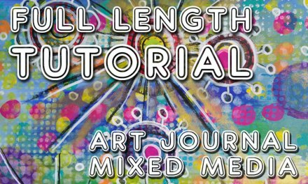 "Free art journal tutorial ""My Playground"" (Studio Time 22)"