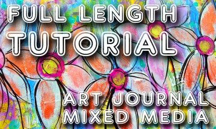 "Free art journal tutorial ""Carefree"" (Studio Time 23)"