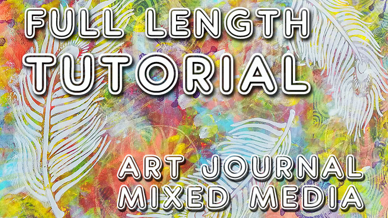 "Art journal tutorial ""Light as a Feather"" (Studio Time 25)"