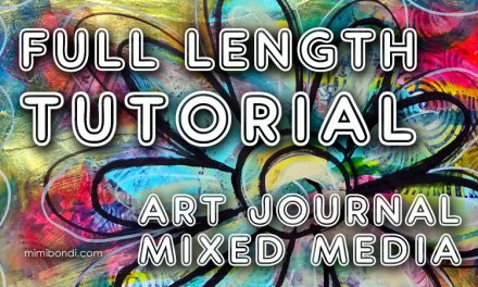Messy paint & collage art journal tutorial (ST34)