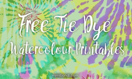 Free tie dye watercolour printables for your art!