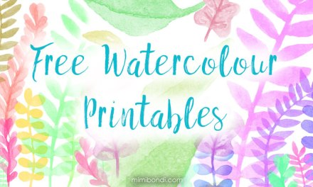 Free spring watercolour printables for your art!