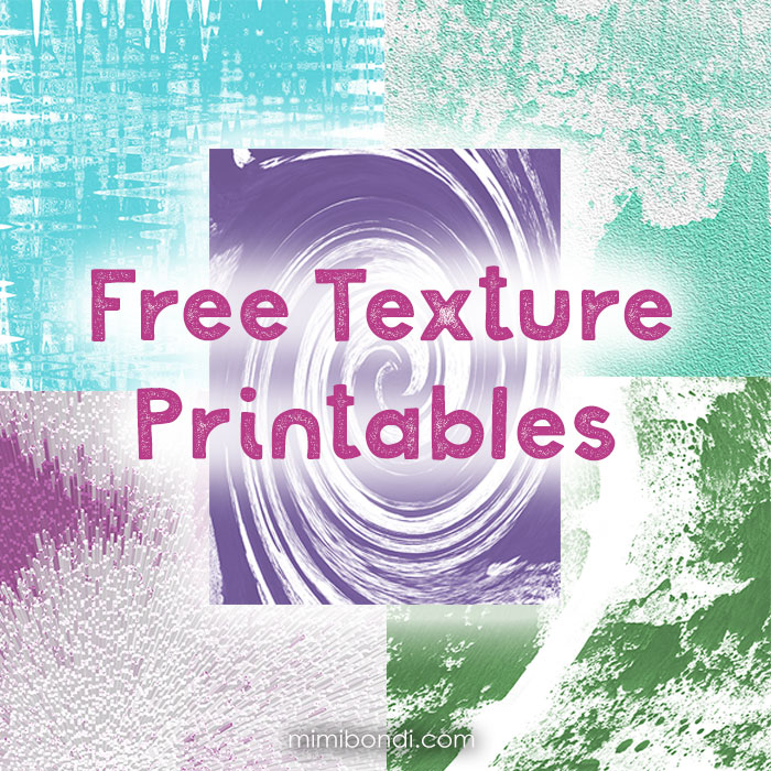 Free texture printables to use in mixed media, craft & card making