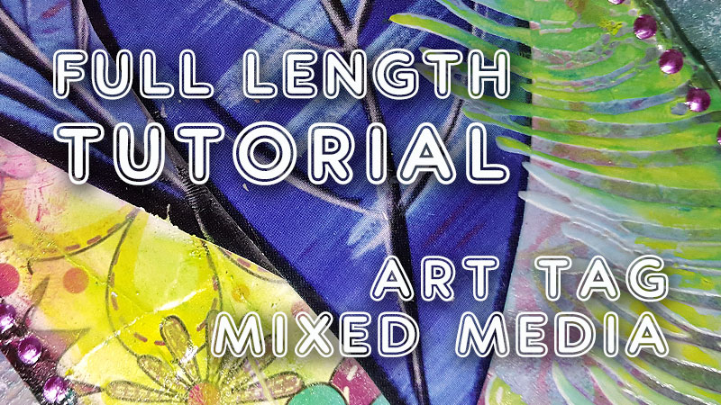 Mixed Media art tag with collage and gelatos (ST50)