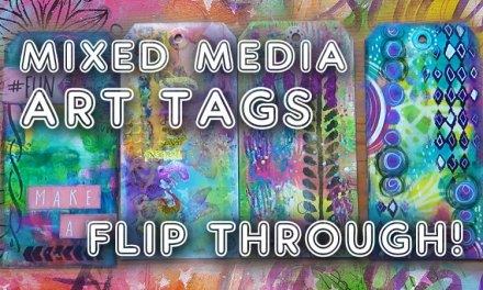 Mixed Media Art Tags Flip Through (ST61)