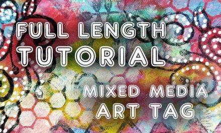 Where I went wrong mixed media art tag (ST67)