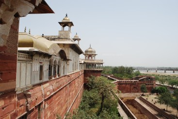 Double-moated Agra Fort