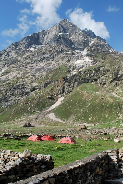Camping at Chhatru, Spiti Valley, Northern India
