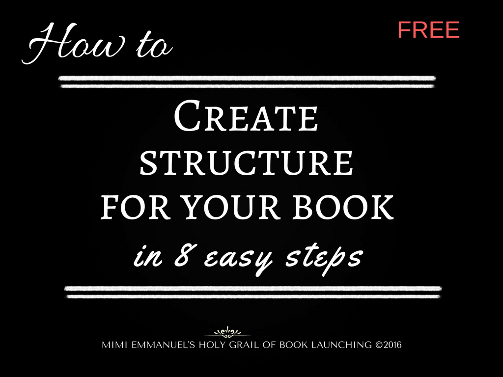 HOW TO CREATE SCTRUCTURE FOR YOUR BOOK