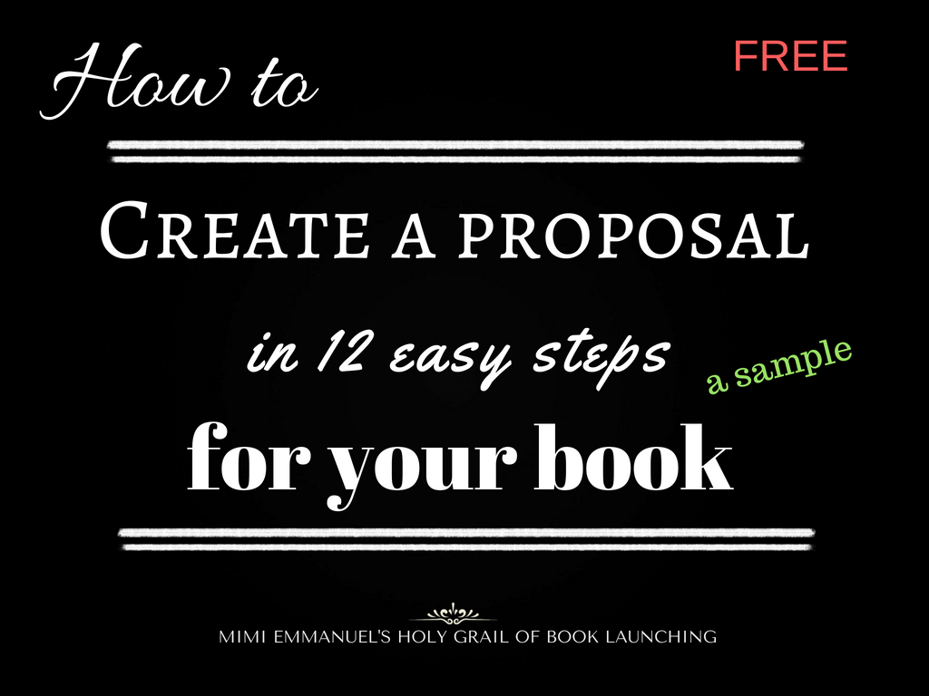 How to create a proposal for your book