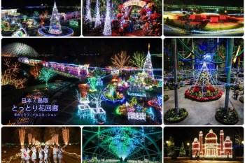 【鳥取景點】必遊!鳥取花迴廊(とっとり 花回廊)冬季聖誕點燈開催中,暢遊日本最大花卉公園。