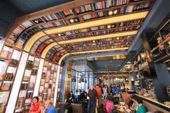 【台中咖啡店】卡啡那 Caffaina Coffee 大墩店:每日限定舒芙蕾令人驚艷,超美天花板書牆吸睛100%。有插座|網路|不限時間