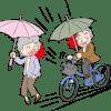 自転車の傘さし運転って違反なの?雨対策はどうしたらいい?