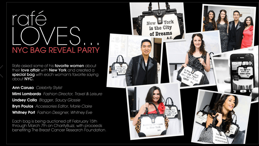 Rafe Bag Launch for New York Muses
