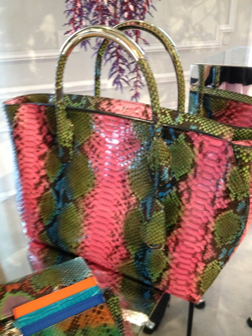 Candy Colored Reptile Handbags