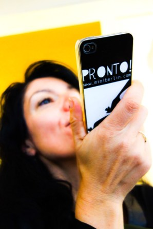 "Journalist Milou van Rossum with the ""Pronto"" Phone Case by Mimi Berlin"