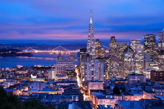 San Francisco at dusk
