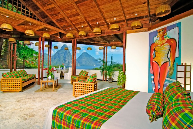 Caribbean      St. Lucia      Anse ChastanetPremium Room (7f) & Pitons view