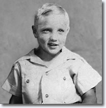 Little Elvis, age 4 (photo courtesy of the Elvis Birthplace Museum)