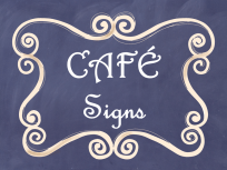CAFE Posters Navy Chalkboard AD PNG
