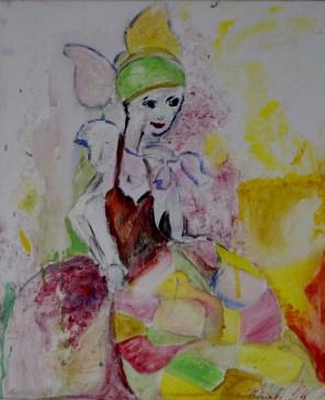 Fashion girl, 50x60cm Acrylic on canvas, SEK 5000,00