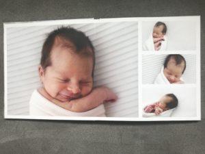 Interior album fotos newborn de la baby